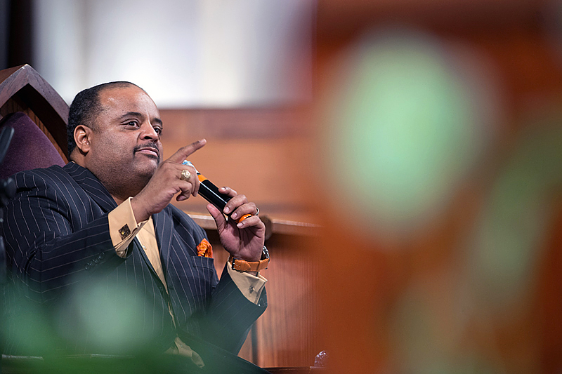 Journalist Roland Martin speaks during a town hall meeting sponsored by Georgia Charter Schools Association and GeorgiaCAN at Ebenezer Baptist Church on Friday, Jan. 13, 2017, in Atlanta. (Branden Camp/AP Images for Georgia Charter Schools Association)