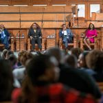 Panelist talk during a town hall meeting sponsored by Georgia Charter Schools Association and GeorgiaCAN at Ebenezer Baptist Church on Friday, Jan. 13, 2017, in Atlanta. (Branden Camp/AP Images for Georgia Charter Schools Association)