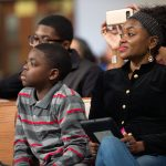 People listen to panelist talk during a town hall meeting sponsored by Georgia Charter Schools Association and GeorgiaCAN at Ebenezer Baptist Church on Friday, Jan. 13, 2017, in Atlanta. (Branden Camp/AP Images for Georgia Charter Schools Association)