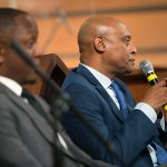 Kevin Chavous, national education expert, right, and Courtney English, Atlanta board of education chair, during a town hall meeting sponsored by Georgia Charter Schools Association and GeorgiaCAN at Ebenezer Baptist Church on Friday, Jan. 13, 2017, in Atlanta. (Branden Camp/AP Images for Georgia Charter Schools Association)